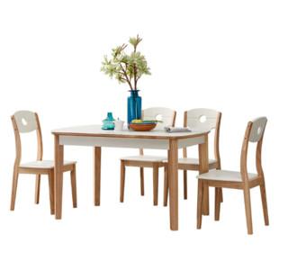 双虎家私 17CT807 餐桌椅组合 一桌四椅(配806椅子)