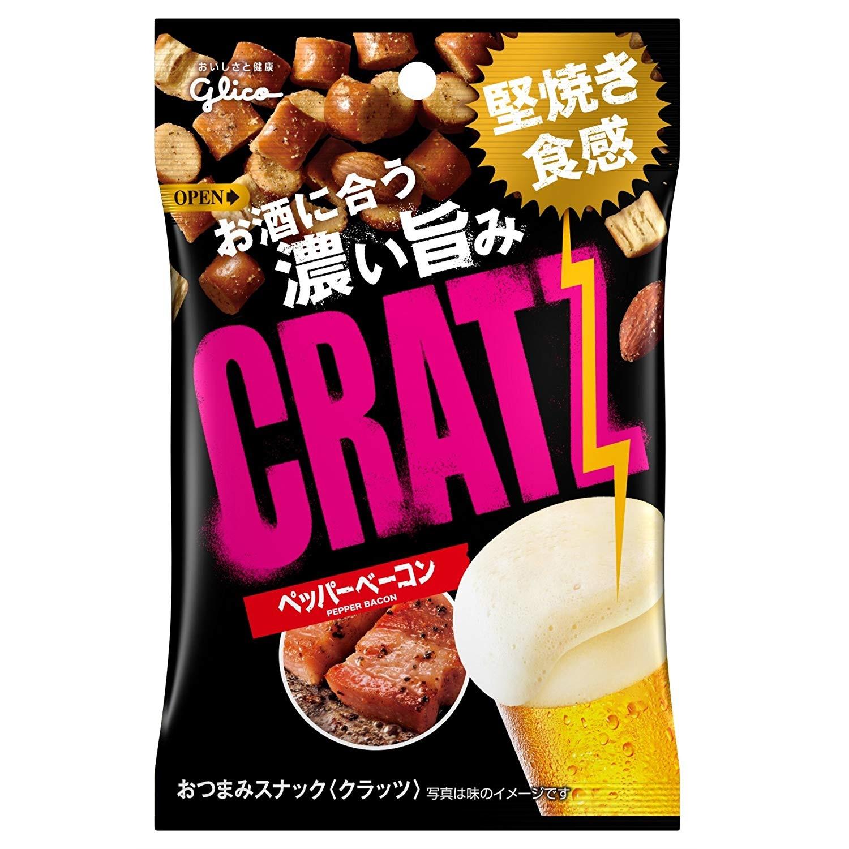 格力高 CRATZ 什锦小零食 黑胡椒培根口味 42g*10袋