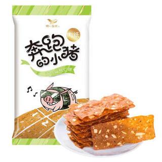统一 奔跑的小猪肉纸 海苔扁桃仁味 50g