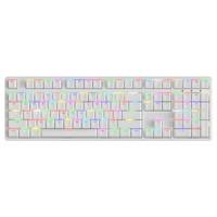 ikbc RGB F-108 幻彩背光机械键盘 108键原厂Cherry轴 白色 茶轴 游戏键盘 绝地求生 吃鸡键盘