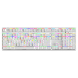 iikbc typeman F410 108键 机械键盘 白色 茶轴