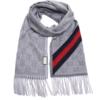 GUCCI 古驰 429255 3G947 1466 中性款灰色羊毛长款围巾