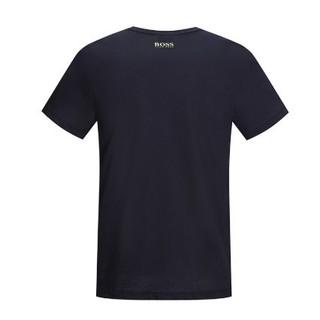 HUGO BOSS 雨果波士 50371769 424 L男士棉质印花休闲短袖T恤