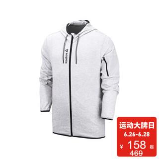 Reebok 锐步 M CN  SOLID JKT 男子夹克FKA49 灰色/黑色-DH4015 A/L