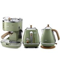 Delonghi 德龙 Icona Vintage复古系列 三件套 (橄榄绿)