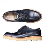 REGAL 丽格 T78B BA8 男士布洛克雕花鞋 深蓝色 40