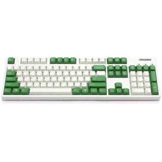 FILCO 斐尔可 FKBC104MRL/EWG2 机械键盘(Cherry红轴、奶白色绿键帽、奶酪绿正刻、蓝牙、有线、奶白绿色)