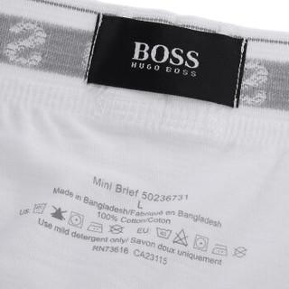 HUGO BOSS 雨果波士 男士三条装内裤 三条装 白色 S