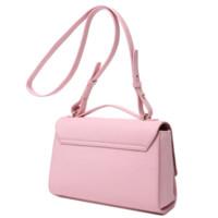 DUDU 麦包包 圣玛丽系列 女式牛皮简约手提斜挎包 粉红色