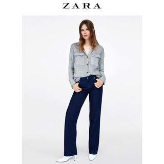ZARA 08566063802 女士口袋饰亚麻衬衫