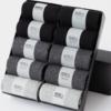 南极人(Nanjiren)商务棉袜子男士袜子纯色中筒透气吸汗正装袜10双礼盒装 5纯色+5菱格 均码 *3件 78元(合26元/件)