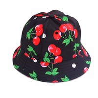 stylecarf 丝黛斯卡佛 女式渔夫帽 樱桃印花图案