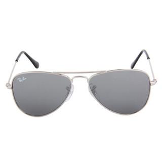 Ray·Ban 雷朋 飞行员系列 儿童太阳镜 银色镜架灰色镜片 RJ9506S 212/6G 50mm