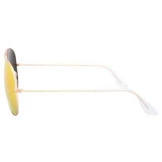 Ray·Ban 雷朋 飞行员系列 RB3025 偏光太阳镜 金色镜框橘色镜片