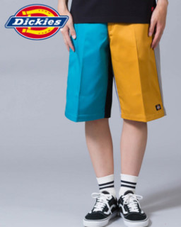 Dickies 帝客 US42283 男士撞色工装短裤 水蓝色 32