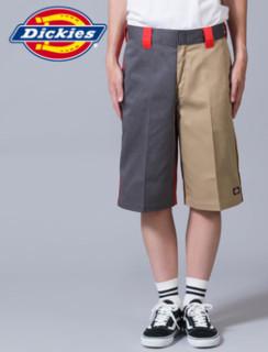 Dickies 帝客 US42283 男士撞色工装短裤 灰色 28
