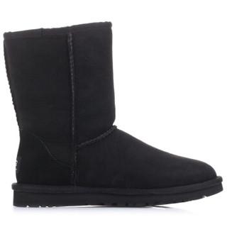 UGG 女款中筒雪地靴 黑色 37码