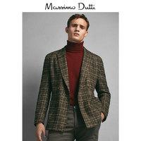 Massimo Dutti 限量版 02016218710 男士格纹羊毛西服