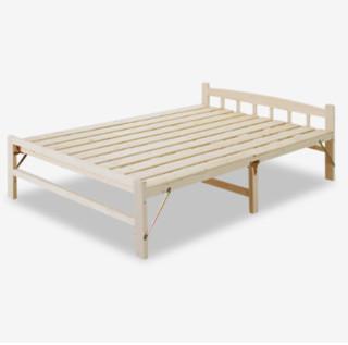 彭友家私  PY-ZD12 实木折叠床 1.2米宽
