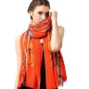 Glovin 女式链条皮带印花羊毛围巾披肩