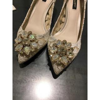 DOLCE & GABBANA CD0066AL198 女士蕾丝高跟鞋