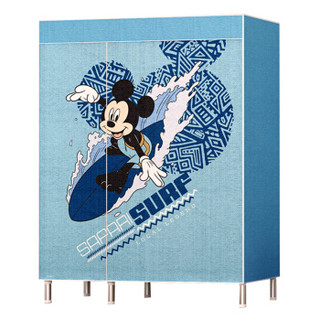 迪士尼(DISNEY)米奇BY-1302 布衣柜简易衣柜简易衣橱多功能衣橱 钢管加粗加固金属钢架