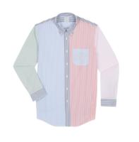 Brooks Brothers 1000045929 男士趣味条纹衬衫 S