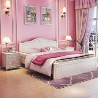 A家家具 HS001  韩式双人床 1.8米排骨架-平床尾