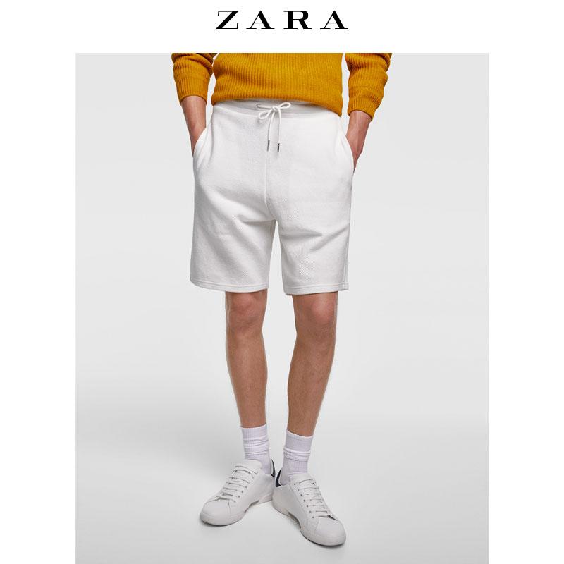 ZARA 01701343052 男士基本款棉质百慕大短裤