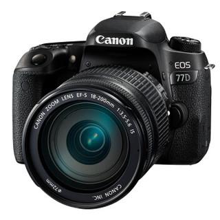 Canon 佳能 EOS 77D 单反套机(EF-S 18-200mm f/3.5-5.6 IS)