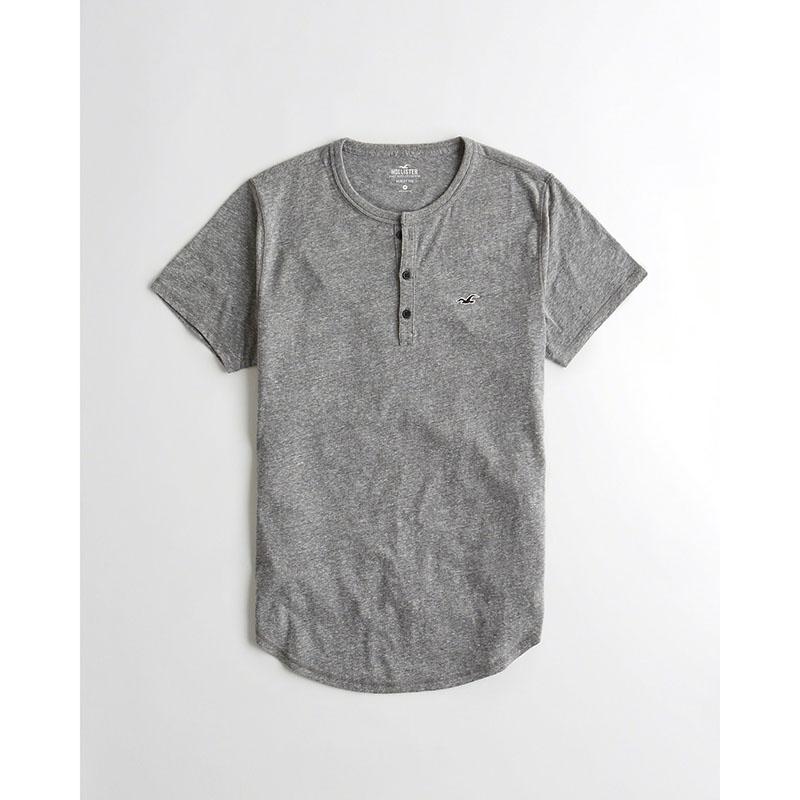 HOLLISTER 201016-1 男士亨利领短袖T恤