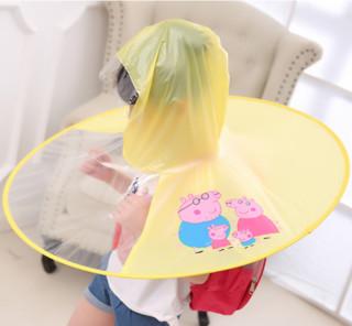 PETAL RAIN 花瓣雨 碟伞帽儿童雨衣
