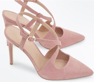 NEW LOOK 581743070 女士仿麂皮高跟凉鞋