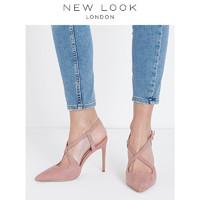 NEW LOOK 581743070 女士仿麂皮高跟凉鞋 38