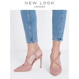 NEW LOOK 581743070 女士仿麂皮高跟凉鞋 39