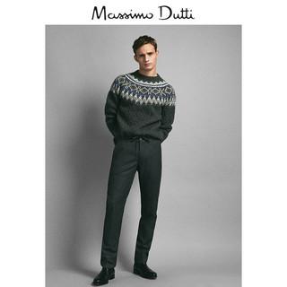 Massimo Dutti 00070261802-23 男士工装羊毛长裤 S