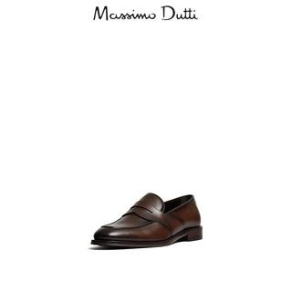 Massimo Dutti 17401322709-23 男士真皮宽绊带乐福鞋 39