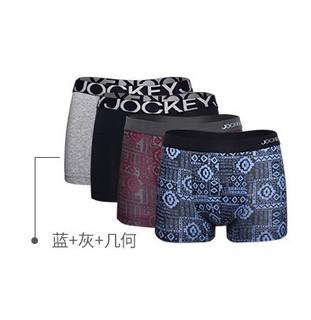 JOCKEY J1811208 男士平角内裤 4条装