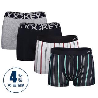 JOCKEY J1811208 男士平角内裤 4条装 3