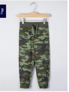 Gap 盖璞 297426 M2 男童全棉迷彩收腰休闲裤