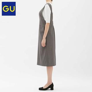 GU 极优 310657 女士格子连衣裙 深灰色 S