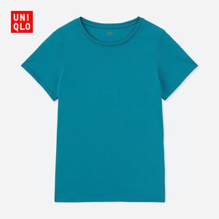 女装 DRY-EX圆领T恤(短袖) 411685 优衣库UNIQLO 灰色S码