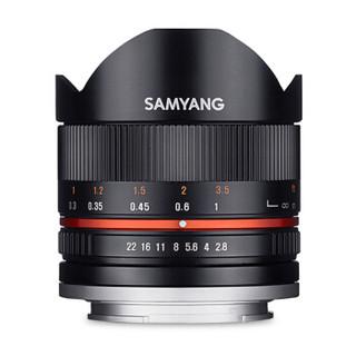SAMYANG 森养光学 8mm F2.8 UMC Fish-eye II 鱼眼镜头 黑色