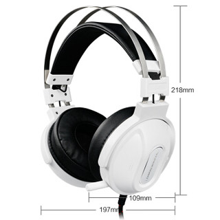 ThundeRobot 雷神 沙漠风暴H71 游戏耳机 (冰锐白)