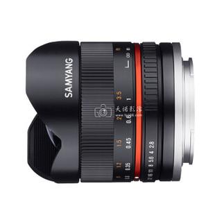 SAMYANG 森养光学 8mm F2.8 UMC Fish-eye II 鱼眼镜头 银色