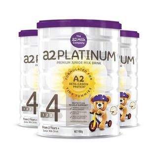 a2 艾尔 白金系列 幼儿配方奶粉 4段 900g*3罐