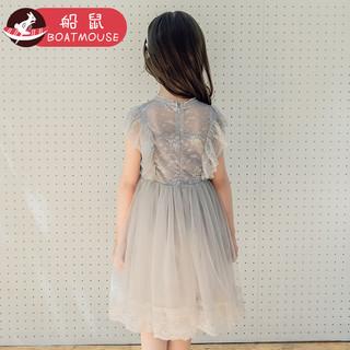 BOATMOUSE 船鼠 女童蕾丝公主连衣裙