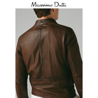 Massimo Dutti 03301101700-23 男士羊皮革夹克 L