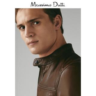 Massimo Dutti 03301101700-23 男士羊皮革夹克 XXL