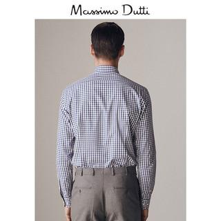 Massimo Dutti 00153133400-23 男士修身格纹衬衫 43